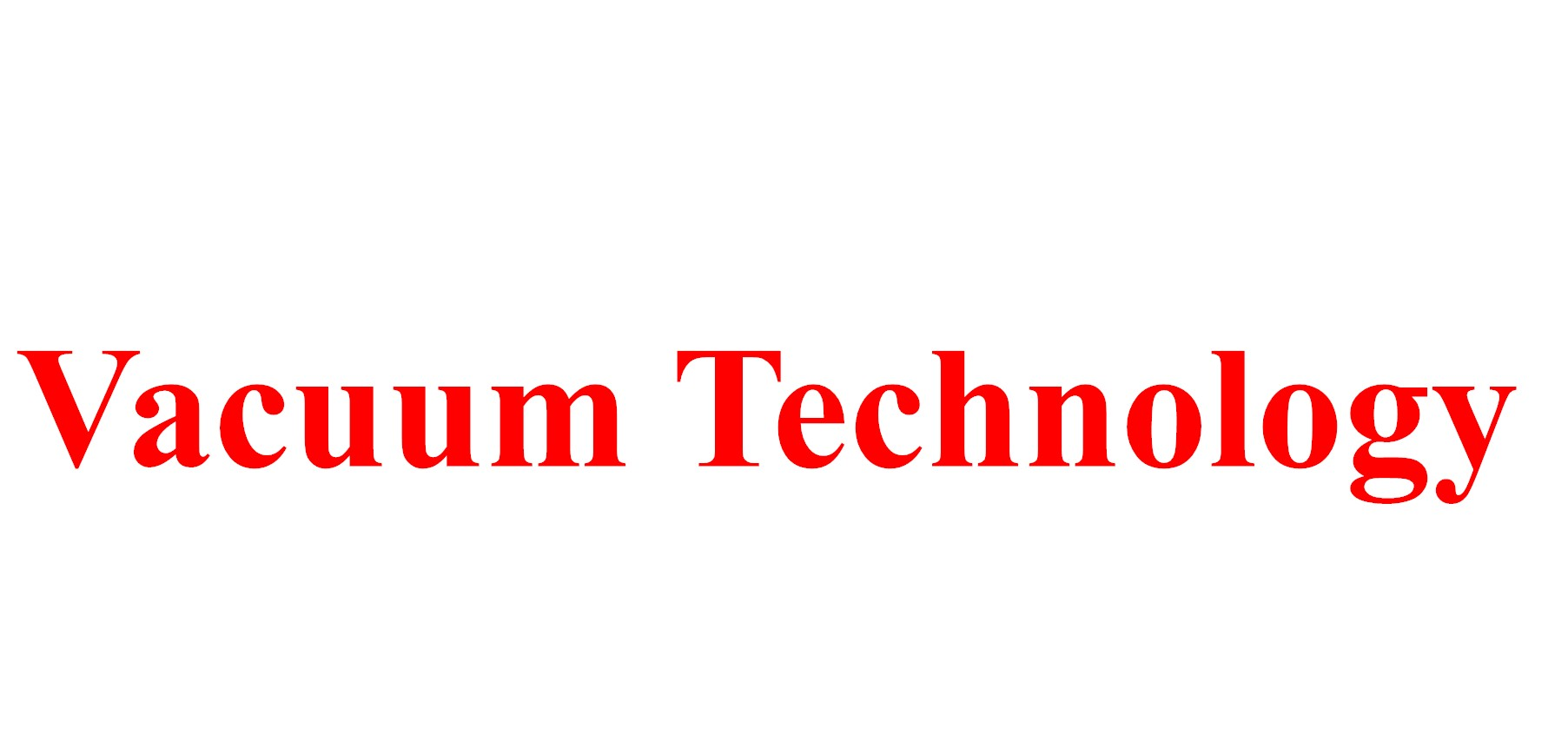 1131382Vacuum Technology and Applications