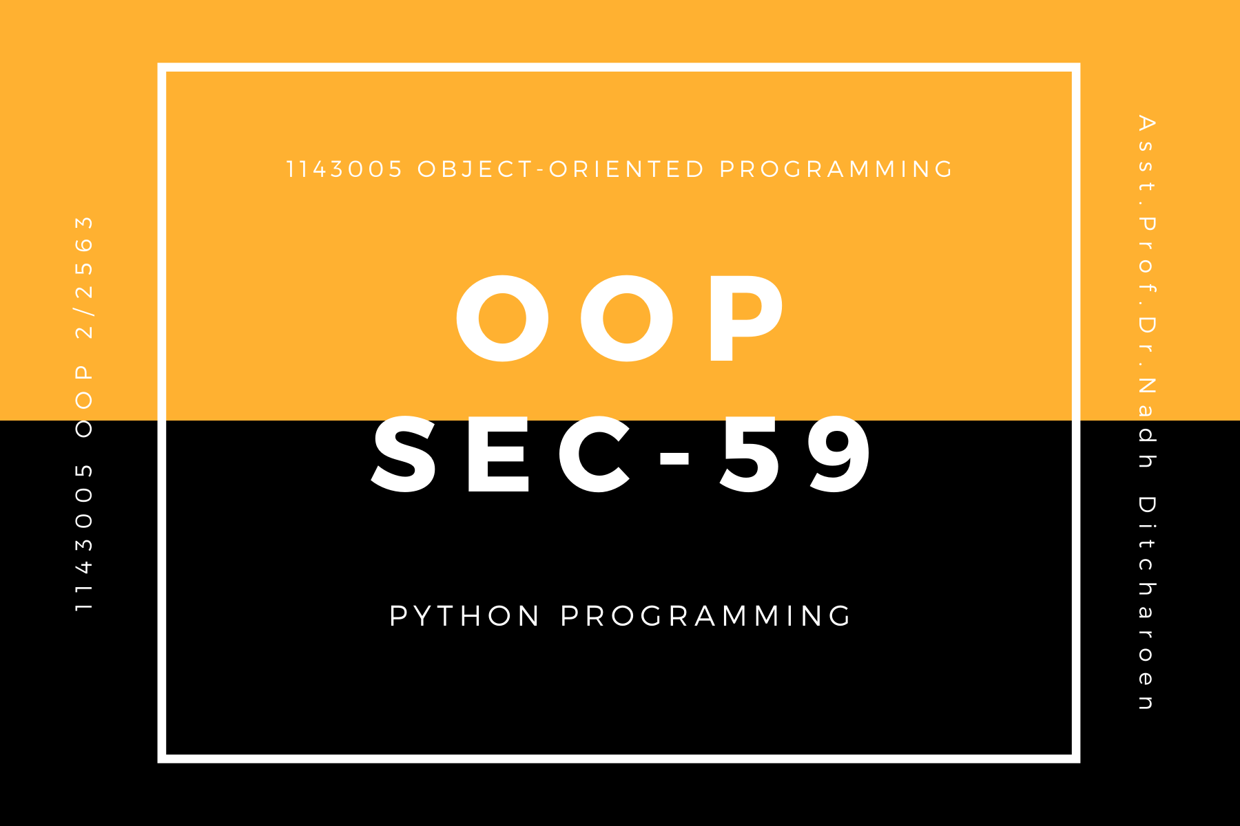 1143005 Object-Oriented Programming