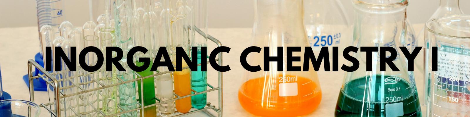 1121240 Inorganic Chemistry I