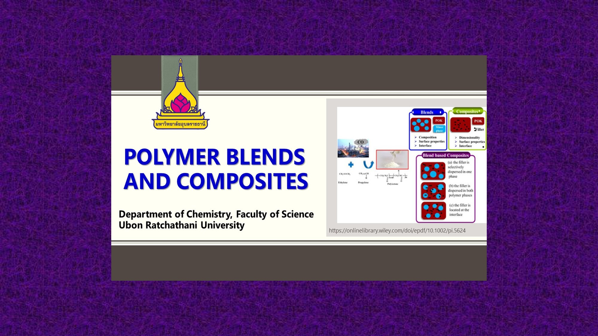 1122413 Polymer Blends and Composites